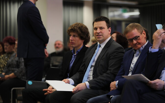 Prime Minister and Centre Party chairman Jüri Ratas at a meeting of the party's extended board on Saturday. 30 March 2019.