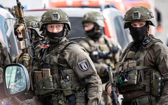 Saksamaa politsei eriüksuslased õppusel, arhiivifoto.