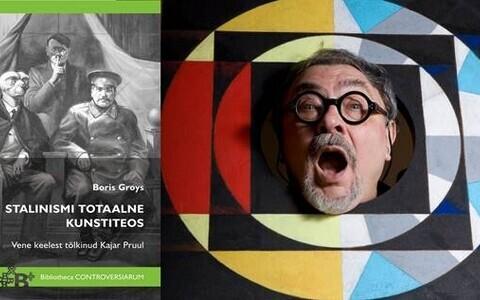 """Boris Groysi raamat """"Stalinismi totaalne kunstiteos"""" (Tallinna Ülikooli Kirjastus). Kunstnik Vitaly Komar."""