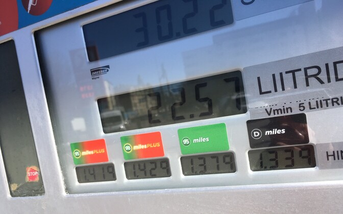 Bensiini hind Circle K tanklas 1. aprillil 2019.