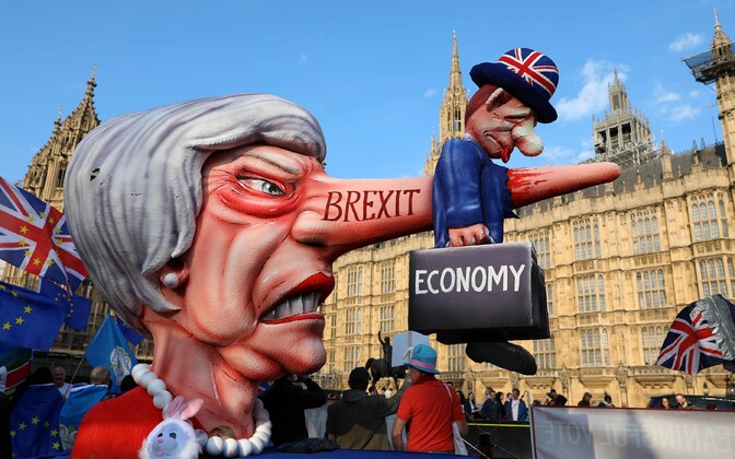 Brexiti-vastane meeleavaldus Londonis.