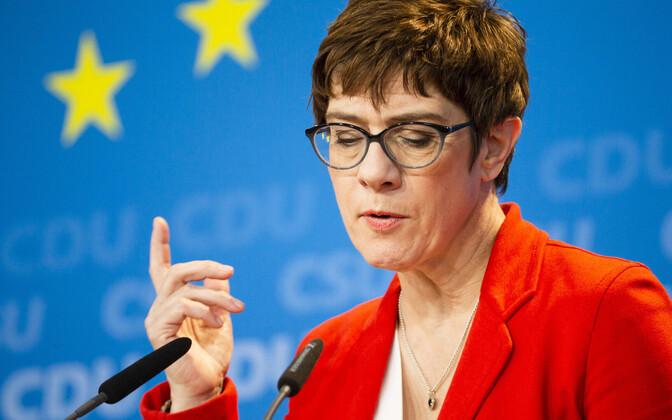 Saksa Kristlik-Demokraatliku Liidu (CDU) juht Annegret Kramp-Karrenbauer.