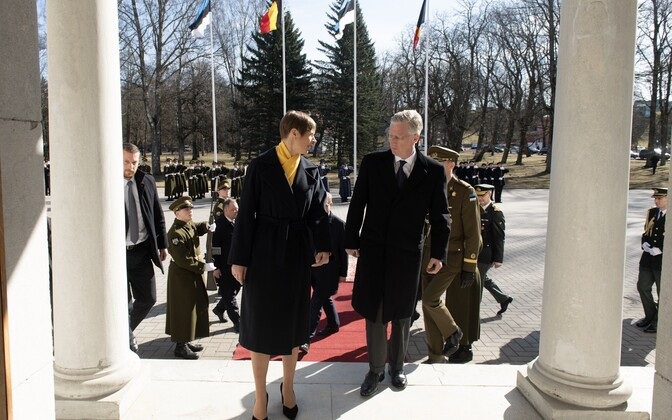 Philippe, King of the Belgians, meeting with President Kersti Kaljulaid at the Kadriorg Palace.