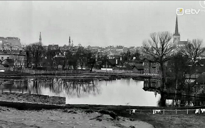 Вид на реку Хярьяпеа в 1920-е годы.