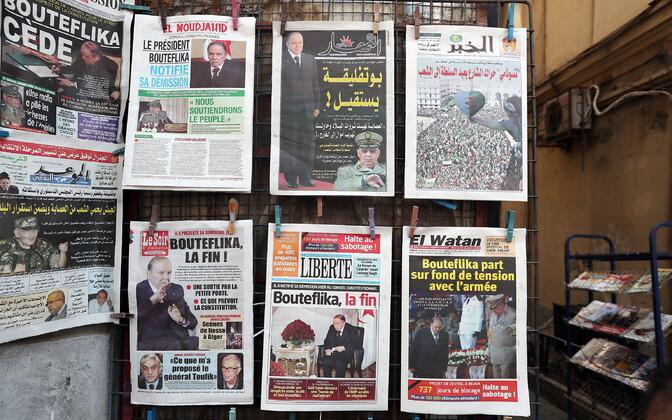 Abdelaziz Bouteflika ametist lahkumisest kirjutavad kohalikud ajalehed Alžiiris.