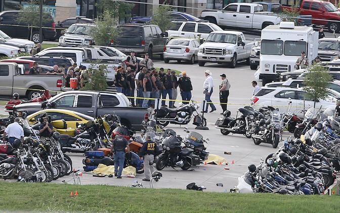 Motojõukude lahingu sündmuskoht Waco linnas Texases 2015. aasta 17. mail.