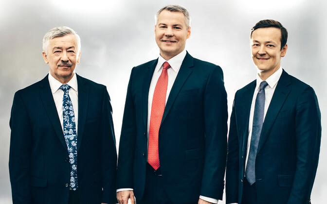 Holm Bank board (L-R) Arne Veske, Indrek Julge and Kaido Veske.