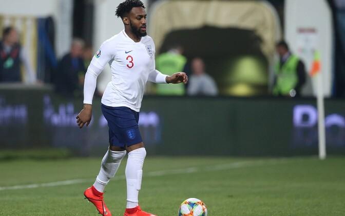 Danny Rose Inglismaa EM-valikmängus Montenegro vastu