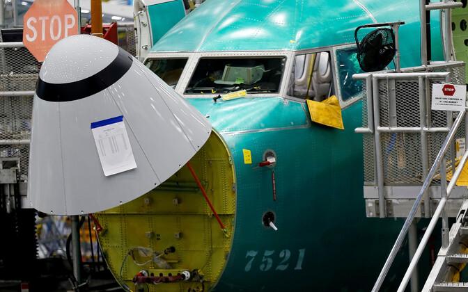 Boeing 737 MAX на заводе.