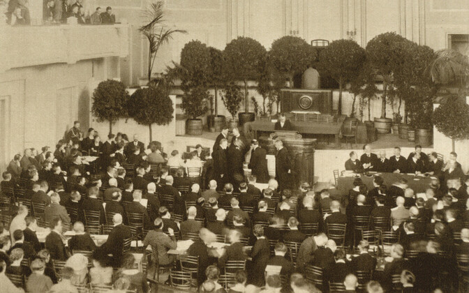 Convening of the Consituent Assembly on 5 April 1919, at the Estonia Theatre.