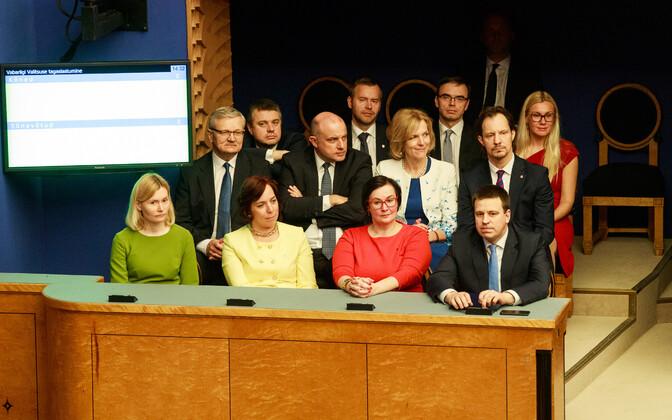 Предыдущее правительство Юри Ратаса.