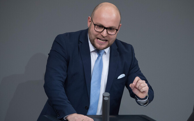 Saksamaa rahvasaadik Markus Frohnmaier (AfD).