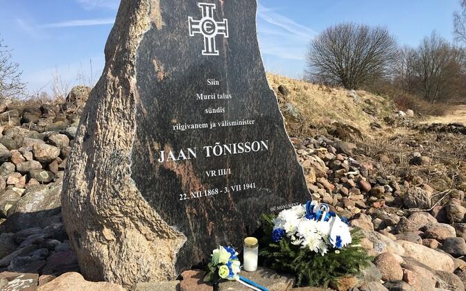 Mälestushetk asutava kogu liikme Jaan Tõnissoni sünnikohas Viljandi vallas Mursi talus.