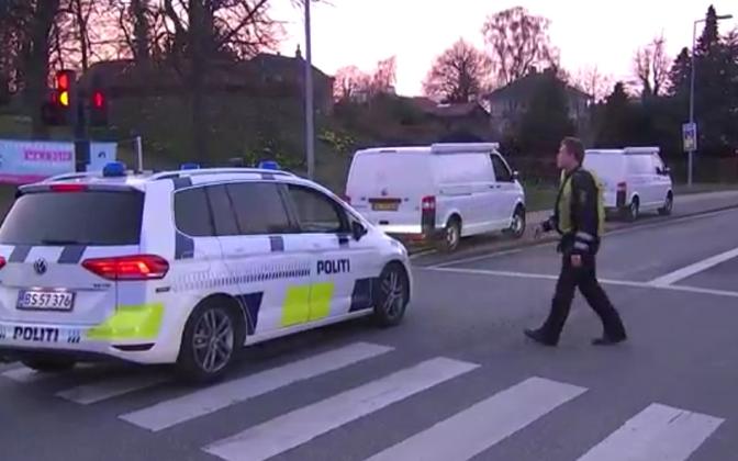 Taani politsei tulistamiskohal.