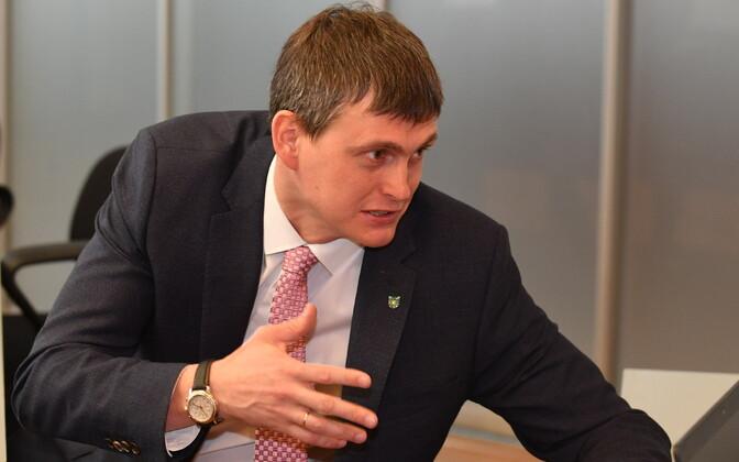 Мэр Нарвы Алексей Евграфов.