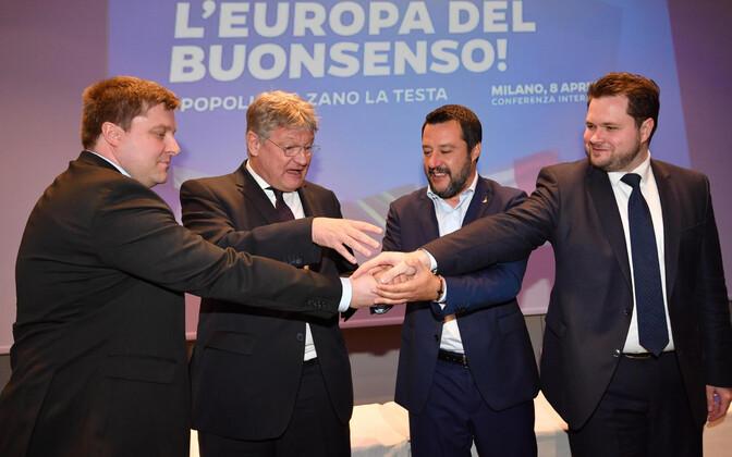 Aprilli algul sõlmisid eurskeptilised erakonnad põlissoomlased, AfD, Liiga ja Taani Rahvapartei Milanos koostööleppe.