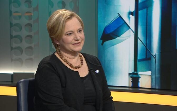 Soome saatkonna pressinõunik Hannele Valkeeniemi.
