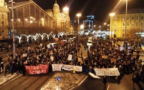 """Protest """"orjaseaduse"""" vastu."""
