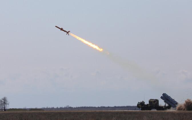 Raketitest Odessa lähistel 5. aprillil.