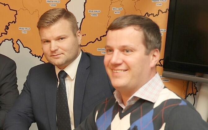 Marek Jürgenson (paremal) ja Lauri Laats panustasid Keskerakonna poliitikutest enim isiklikule kampaaniale.