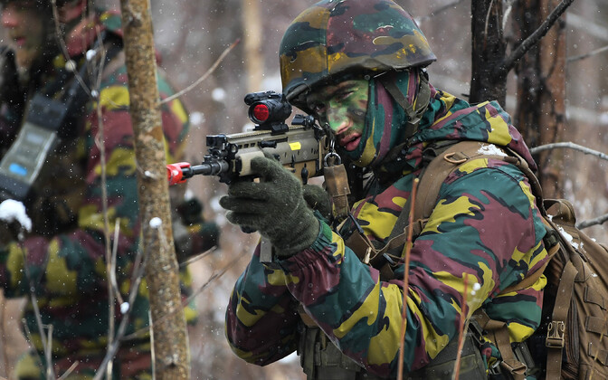 Eesti ajateenijate ja Belgia kaitseväelaste õppus.