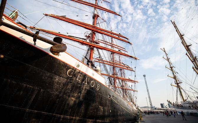 Vene purjelaev Sedov eelmisel aastal Tallinnas.