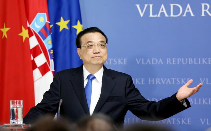 Hiina peaminister Li Keqiang Horvaatias.