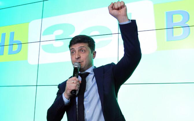 Ukraina presidendikandidaat Volodõmõr Zelenskõi.