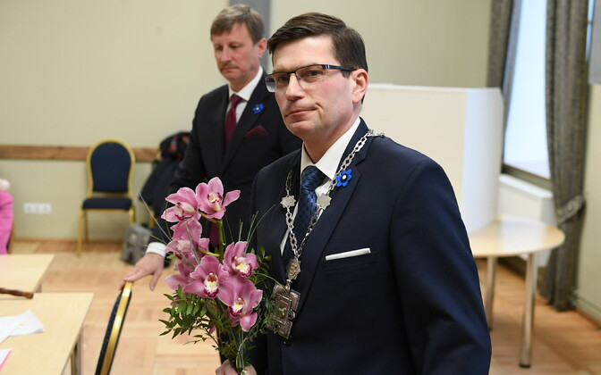 Jõhvi Municipal Council elected Max Kaur mayor of the municipality on Thursday. 11 April 2019.