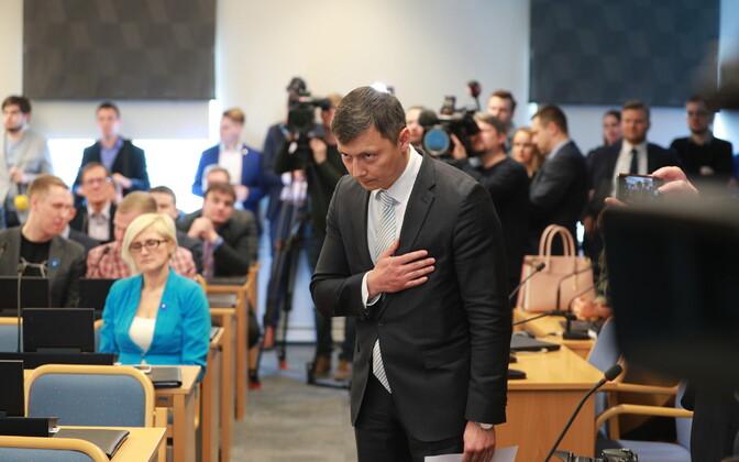 Mihhail Kõlvart has been mayor of Tallinn since April 2019.