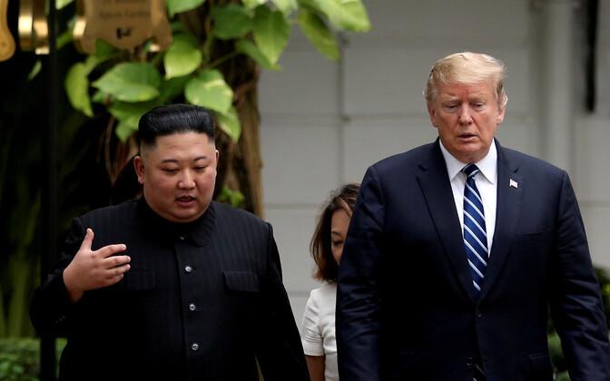Kim Jong-un ja Donald Trump veebruaris Vietnamis toimunud teisel kohtumisel.