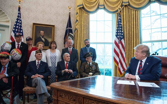President Trump Valges Majas kohtumas veteranidega.
