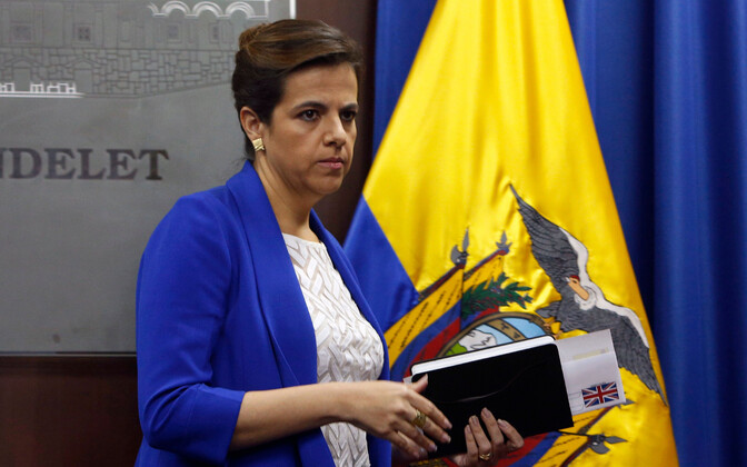 Ecuadori siseminister Maria Paula Romo.