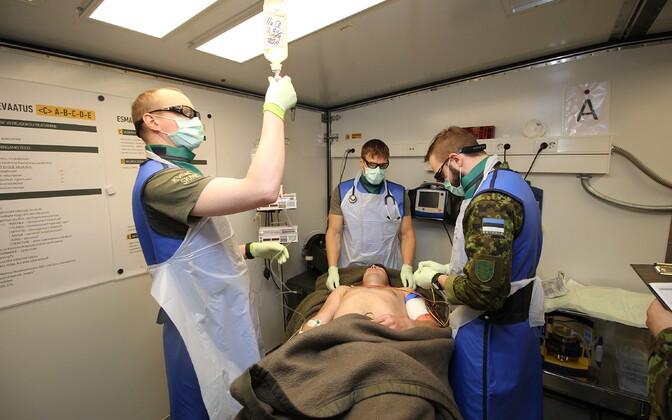 Eesti kaitseväelased osalesid NATO suurimal meditsiiniõppusel.