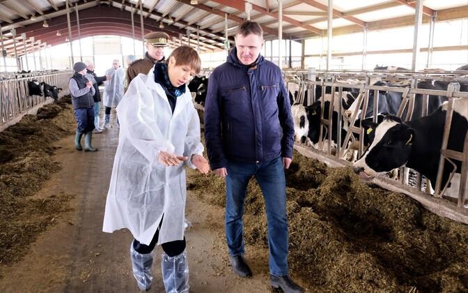 President Kersti Kaljulaid visited Mangeni PM's farm on Saturday.