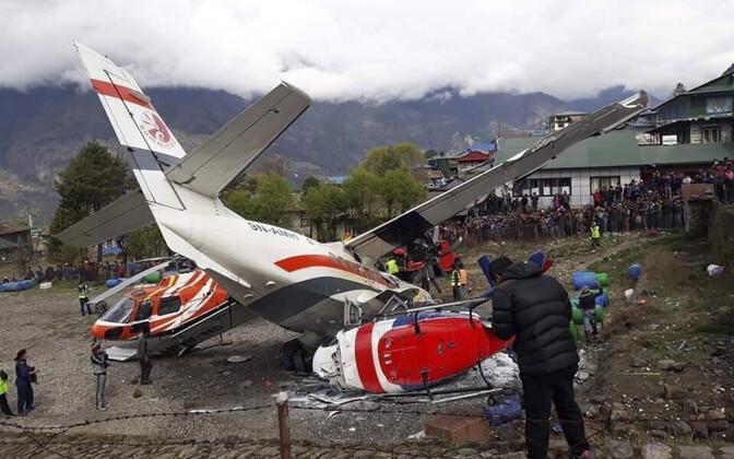 Õnnetuspaik Lukla lennuväljal Nepalis