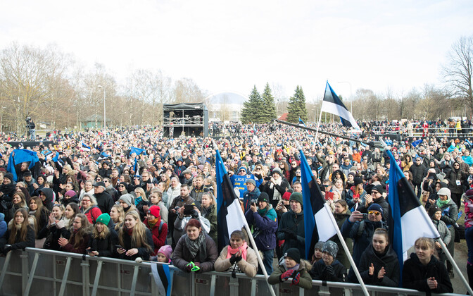 Kõigi Eesti Laul concert at the Tallinn Song Festival Grounds on Sunday. 14 April 2019.