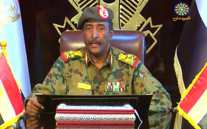 Sudaani sõjalise nõukogu juht kindralleitnant Abdel Fattah al-Burhan Abdulrahman.