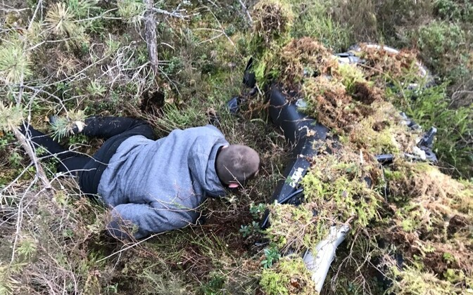 Убегавший от полиции мотоциклист спрятался на болоте