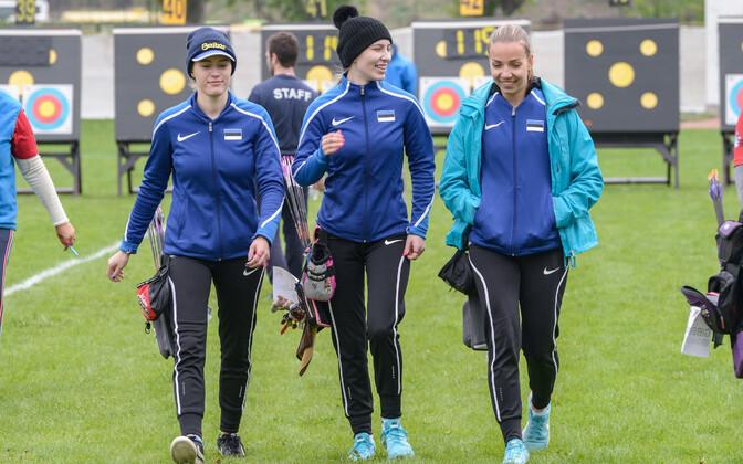 Meeri-Marita Paas, Lisell Jäätma ja Emily Hõim.