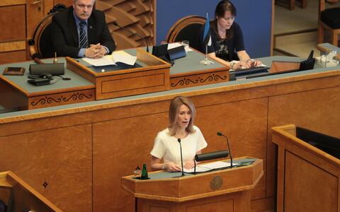 Kaja Kallas peaministrikandidaadina riigikogu ees