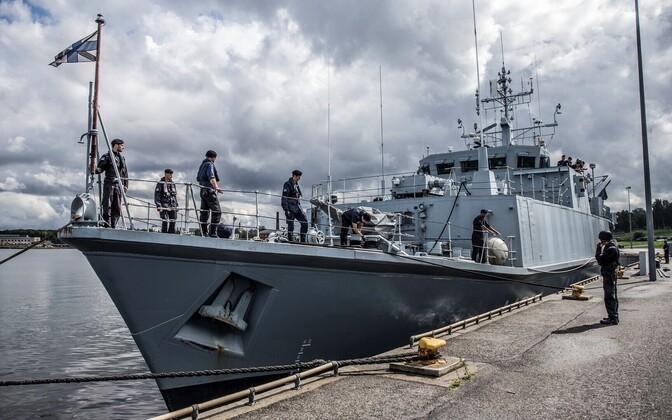 Морская оборона Эстонии пока что ограничивается тралением мин.