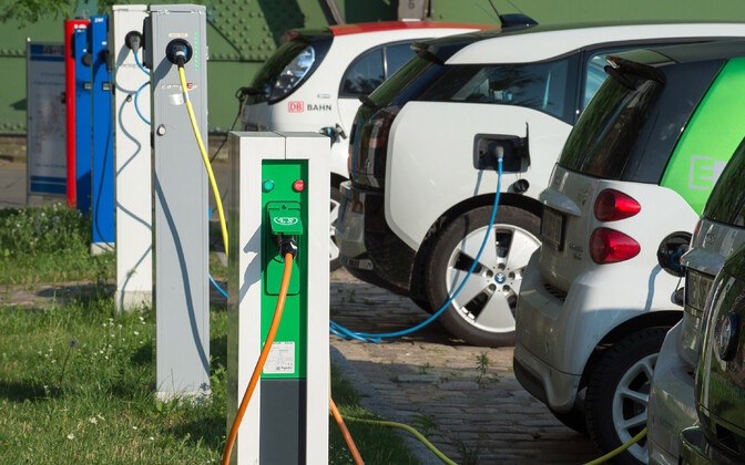 An electric car charging station (picture is illustrative).