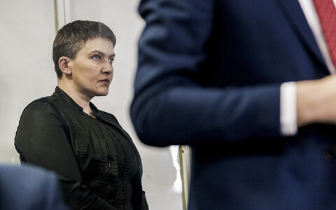 Надежда Савченко в зале суда.