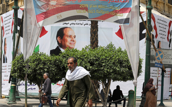 President Abdel Fattah al-Sisi pilt Kairos.