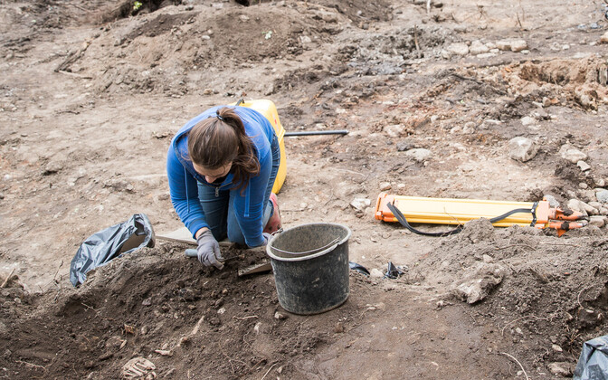 Archaeologist at a dig site. Photo is illustrative.