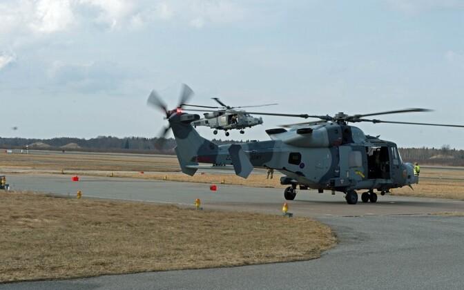 Вертолеты Wildcat останутся в Эстонии до конца мая.