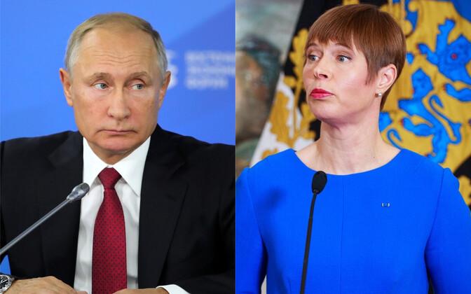 Владимир Путин и Керсти Кальюлайд.