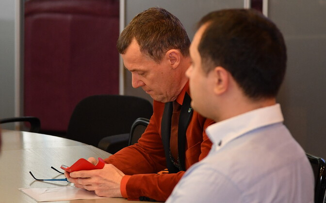 Ex-mayor Tarmo Tammiste (Centre) was toppled by a vote of no confidence in Narva City Council on 15 March.