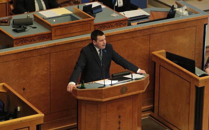 Peaministrikandidaat Jüri Ratas soovib riigikogult volitusi valitsuse moodustamiseks